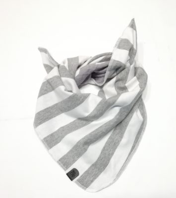 Kinder-Halstuch Grau-weiß